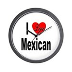 I Love Mexican Wall Clock