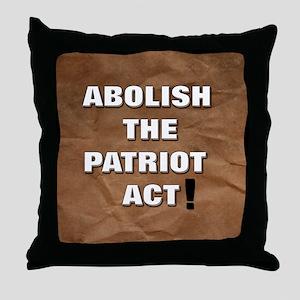 Abolish the Patriot Act Throw Pillow