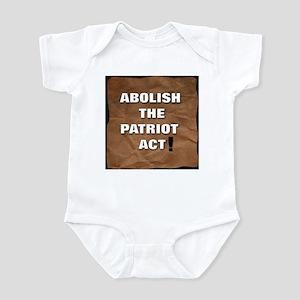 Abolish the Patriot Act Infant Bodysuit