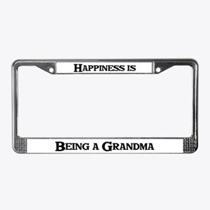 Happiness is Being a Grandma License Plate Frame