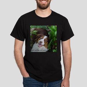 Red Tri Australian Shepherd (Aussie) Dark T-Shirt