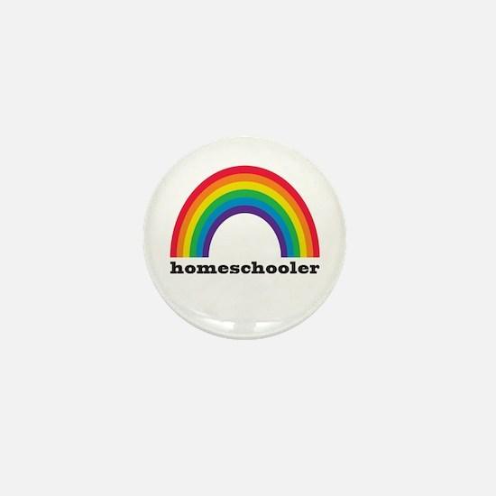 Homeschool Rainbow Mini Button