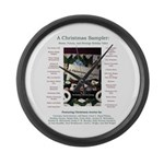 Large Christmas Sampler Wall Clock