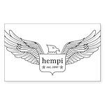 hempi logo Sticker
