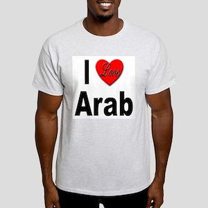 I Love Arab (Front) Ash Grey T-Shirt