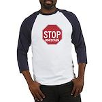 STOP SNITCHING Baseball Jersey