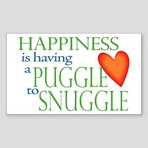 Snuggle Puggles Rectangle Sticker