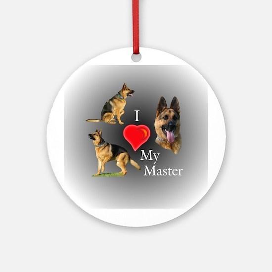 I love My Master Ornament (Round)
