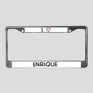 I love Enrique License Plate Frame