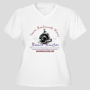 Beard Buster Women's Plus Size V-Neck T-Shirt
