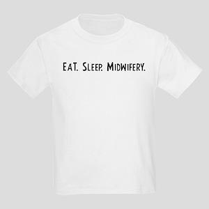 Eat, Sleep, Midwifery Kids T-Shirt