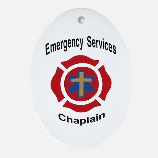 Cute Chaplain Oval Ornament