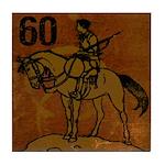 60th Birthday Tile Coaster