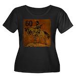 60th Birthday Women's Plus Size Scoop Neck Dark T-