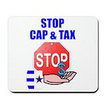 Stop Cap & Tax Mousepad