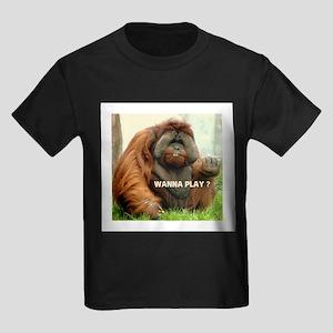 WANTTA PLAY? Kids Dark T-Shirt