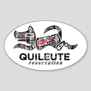 Quileute Reservation Sticker (Oval)