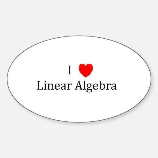 I Heart Linear Algebra Oval Decal