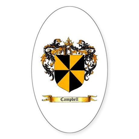Campbell Shield Oval Sticker