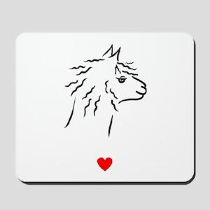 Alpaca Heart Mousepad