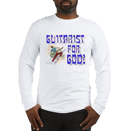 Christian Guitar For God Long Sleeve T-Shirt