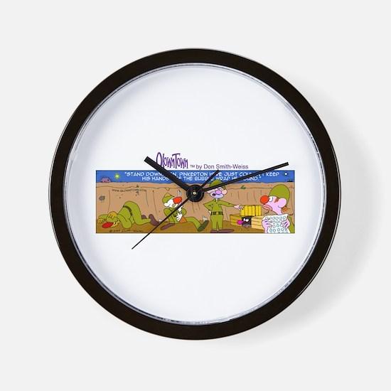 Unique War military comics Wall Clock