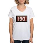 190 sign Women's V-Neck T-Shirt