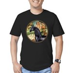 Venus/Arabian horse (blk) Men's Fitted T-Shirt (da