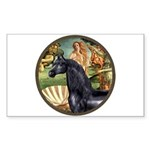 Venus/Arabian horse (blk) Rectangle Sticker
