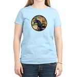 Venus/Arabian horse (blk) Women's Light T-Shirt