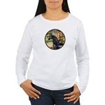 Venus/Arabian horse (blk) Women's Long Sleeve T-Sh