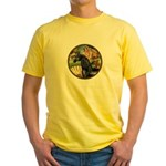 Venus/Arabian horse (blk) Yellow T-Shirt