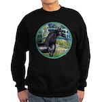 Bridge/Arabian horse (blk) Sweatshirt (dark)