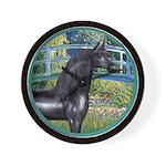Bridge/Arabian horse (blk) Wall Clock