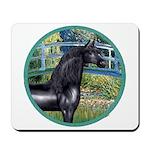 Bridge/Arabian horse (blk) Mousepad