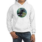 Bridge/Arabian horse (blk) Hooded Sweatshirt