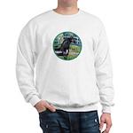 Bridge/Arabian horse (blk) Sweatshirt