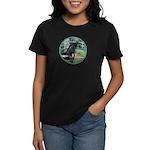 Bridge/Arabian horse (blk) Women's Dark T-Shirt