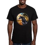 Garden/Arabian horse (blk) Men's Fitted T-Shirt (d
