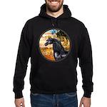 Garden/Arabian horse (blk) Hoodie (dark)
