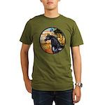 Garden/Arabian horse (blk) Organic Men's T-Shirt (