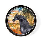 Garden/Arabian horse (blk) Wall Clock