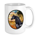 Garden/Arabian horse (blk) Large Mug