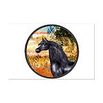 Garden/Arabian horse (blk) Mini Poster Print