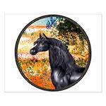 Garden/Arabian horse (blk) Small Poster