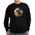 Garden/Arabian horse (blk) Sweatshirt (dark)