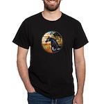 Garden/Arabian horse (blk) Dark T-Shirt