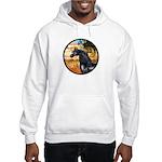 Garden/Arabian horse (blk) Hooded Sweatshirt