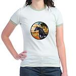 Garden/Arabian horse (blk) Jr. Ringer T-Shirt