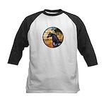 Garden/Arabian horse (blk) Kids Baseball Jersey